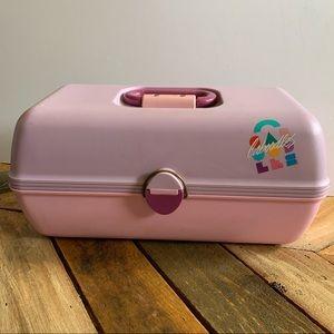 Vintage Caboodles Makeup Travel Case Purple & Pink